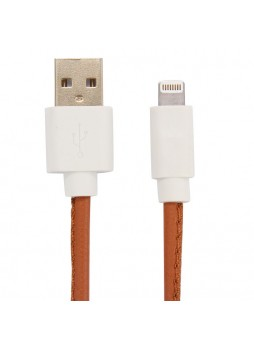 PU Leather Data Charge Sync Lighting Cable Brown× 2