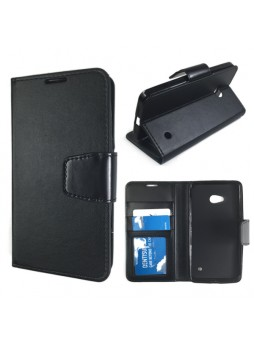 Stand Wallet Case for Nokia Lumia 640 - Black