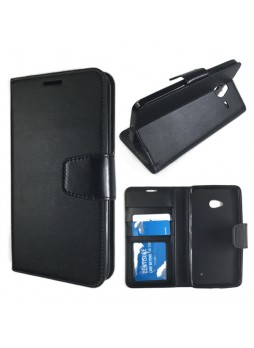 Microsoft Lumia 640XL Wallet Case Cover - Black