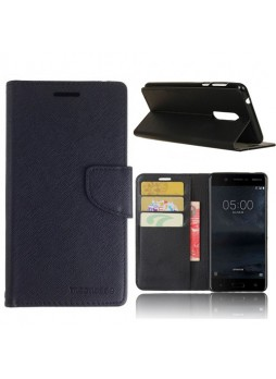 Mooncase Stand Wallet Case For Nokia 5 - Black