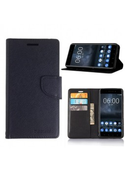 Mooncase Stand Wallet Case For Nokia 6 - Black