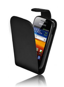 Synthetic Leather Flip Case for Telstra Samsung Galaxy Y - Black