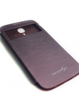 Flip Cover for Samsung Galaxy S4 i9500 - Brown