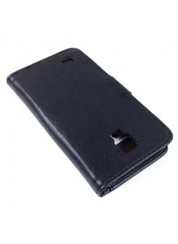 Synthetic Leather Wallet Case for Samsung Galaxy S4 Active i9295 - Black