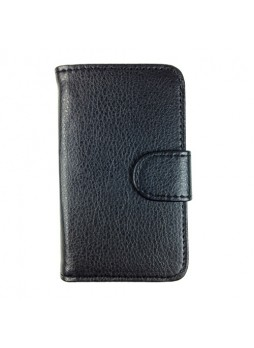 Synthetic Leather Wallet Case for Telstra Samsung Galaxy Young S6310 - Black