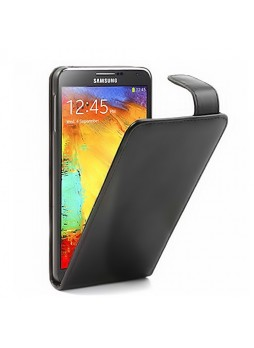Synthetic Leather Flip Case for Samsung Galaxy Note 3 N9000 N9005 - Black