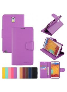 Mercury Goospery Sonata Wallet Case for Samsung Galaxy Note 3 - Purple