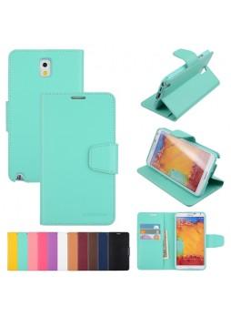 Mercury Goospery Sonata Wallet Case for Samsung Galaxy Note 3 - Mint