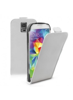 Synthetic Leather Flip Case Cover for Samsung Galaxy S5 - White