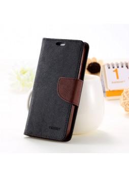 Mercury Goospery Fancy Diary Wallet Case for Samsung Galaxy S5 - Black / Brown