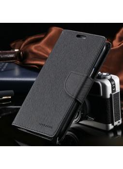 Korean Mercury Fancy Wallet Case for Samsung Galaxy Note 4 - Black