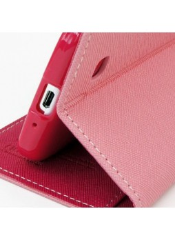Korean Mercury Fancy Diary Case for Samsung Galaxy Note 4 - Baby Pink