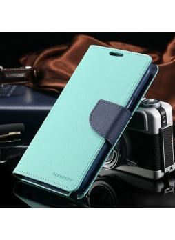 Korean Mercury Fancy Diary Case for Samsung Galaxy Note 4 - Green