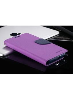 Korean Mercury Fancy Diary Case for Samsung Galaxy Note 4 - Purple
