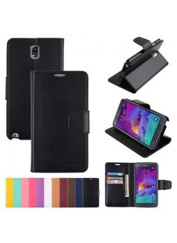 Korean Mercury Sonata Wallet Case for Samsung Galaxy Note 4 - Black