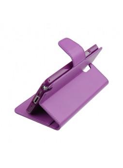 Korean Mercury Sonata Wallet Case for Samsung Galaxy Note 4 - Purple