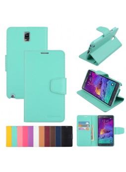 Korean Mercury Sonata Wallet Case for Samsung Galaxy Note 4 - Green