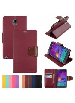 Korean Mercury Sonata Wallet Case for Samsung Galaxy Note 4 - Ruby