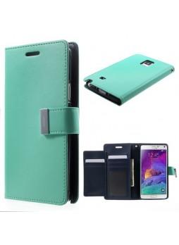 Korean Mercury Rich Wallet Case for Samsung Galaxy Note 4 - Green