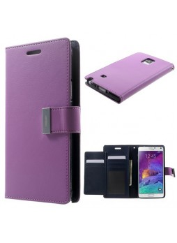 Korean Mercury Rich Wallet Case for Samsung Galaxy Note 4 - Purple
