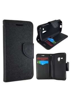 Wisecase Wallet Case for Galaxy Trend Plus Black