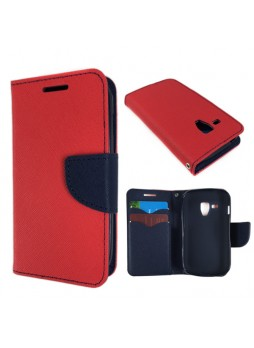 Wisecase Wallet  Case for Galaxy Trend Plus Red