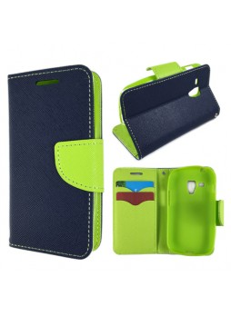 Wisecase Wallet Case for Galaxy Trend Plus Navy Blue