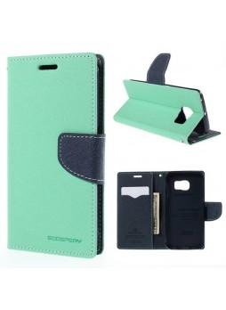 Korean Mercury Fancy Diary Wallet Case for Samsung Galaxy S6 Edge - Green