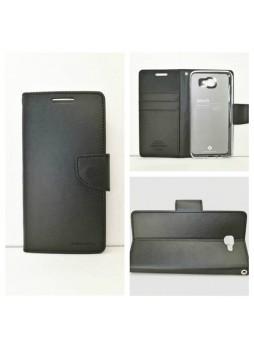 Mercury Goospery Bravo Diary Wallet Case For Samsung Galaxy J5 Prime - Black