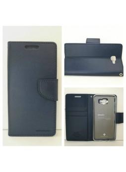 Mercury Goospery Bravo Diary Wallet Case For Samsung Galaxy J5 Prime - Navy