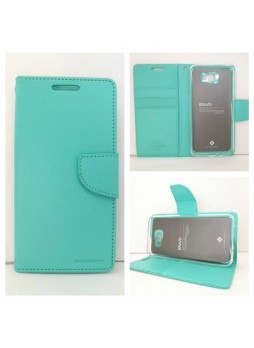 Mercury Goospery Bravo Diary Wallet Case For Samsung Galaxy J5 Prime - Mint