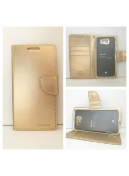 Mercury Goospery Bravo Diary Wallet Case For Samsung Galaxy J5 Prime - Gold
