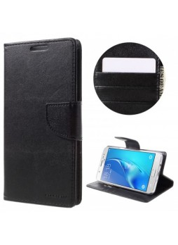 Mercury Goospery Bravo Diary Wallet Case For Samsung Galaxy J7 Prime - Black