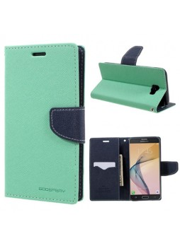 Mercury Goospery Fancy Diary Wallet Case For Samsung Galaxy J7 Prime - Mint