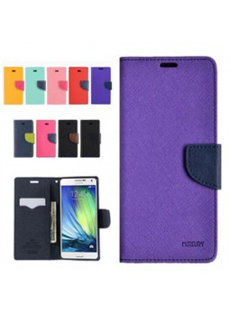 Korean Mercury Wallet Case for Galaxy J1 2016 - Black