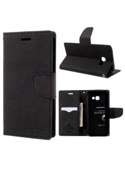 Korean Mercury Fancy Diary Wallet Case For Samsung Galaxy A5 2017 - Black