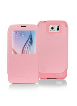 Korean Mercury WOW View Cover for Samsung Galaxy S6 Edge Plus Light Pink