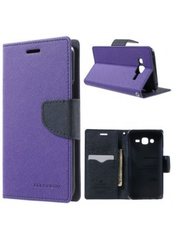 Korean Mercury Fancy Diary Wallet Case Cover for Samsung Galaxy J3 2016 Purple