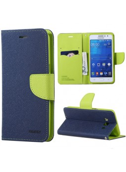 Korean Mercury Fancy Diary Wallet Case Cover for Samsung Galaxy J3 2016 Navy