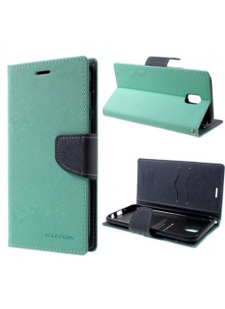Korean Mercury Fancy Diary Wallet Case For Samsung Galaxy J7 Pro - Mint