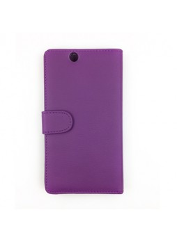 Synthetic Leather Wallet Case for Sony Xperia Z Ultra - Purple