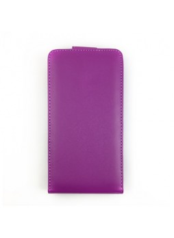 Synthetic Leather Flip Case Cover for Sony Xperia Z2 D6503 - Purple