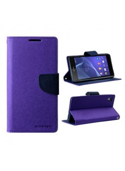Mercury Goospery Fancy Diary Wallet Case for Sony Xperia Z2 - Purple
