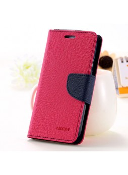 Korean Mercury Fancy Diary Wallet Case for Sony Xperia M5 Hot Pink