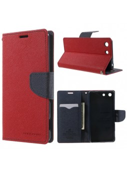 Korean Mercury Fancy Diary Wallet Case for Sony Xperia M5 Red