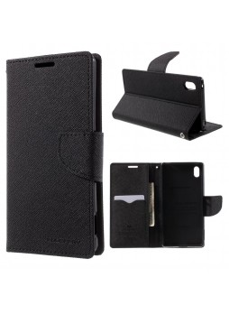 Korean Mercury Fancy Diary Wallet Case for Sony Xperia Z5 Black