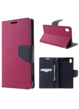 Korean Mercury Fancy Diary Wallet Case for Sony Xperia Z5 Hot Pink