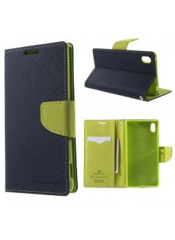Korean Mercury Fancy Diary Wallet Case for Sony Xperia Z5 Blue