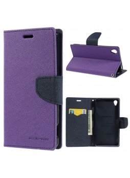 Korean Mercury Fancy Diary Wallet Case for Sony Xperia Z5 Purple
