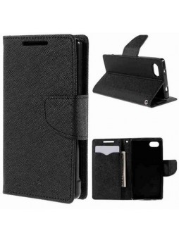 Mooncase Stand Wallet Case for Sony Xperia Z5 Compact/Z5 Mini Black